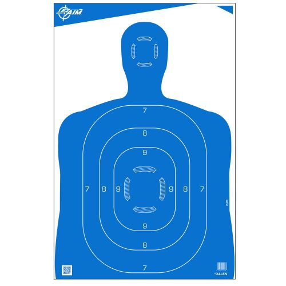 "EZ Aim Silhouette Paper Shooting Targets, 23""W x 35""H, 100-Pack, Blue"