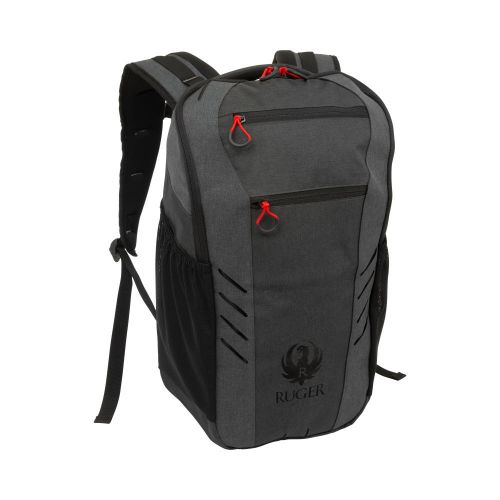 Ruger Pima Tactical Backpack with Lockable Concealed Carry, Die-Cut MOLLE System, Heather Black/Gray
