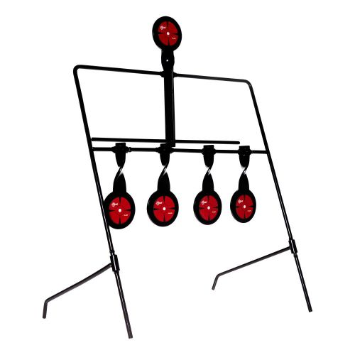 """EZ Aim Deflector Resetting Spinner Target System, 16""""W x 22.25""""H, Black/Red"""