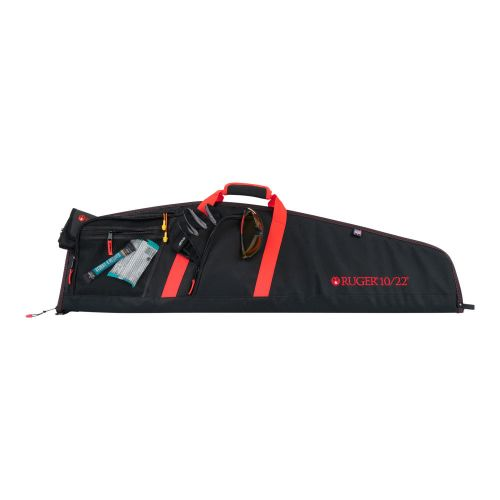 """Ruger 40"""" Flagstaff 10/22 Rifle Case, Black/Red"""