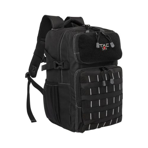 Tac-Six Berm Tactical Backpack, MOLLE Connection System, Black