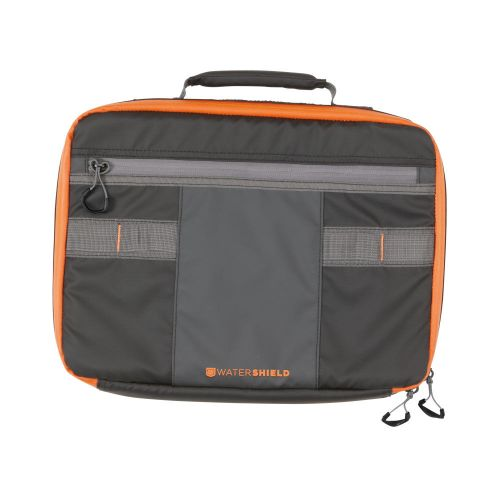 Allen Company Reservoir Attaché Double Handgun/Pistol Case with Watershield Technology, Black/Orange