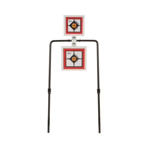 """EZ Aim Hardrock AR500 Square Spinner Targets & Stand, Rimfire Rounds & Centerfire Pistols, 9.5""""W x 22.75""""H, White/Red/Black"""
