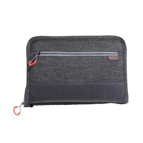 "Allen Company 11"" Auto-Fit 2.0 Deluxe Handgun Case, Gray/Red"