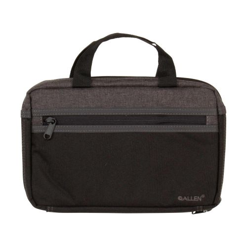 Allen Company Jackson Attaché Handgun Case, Slim Profile, Black/Gray